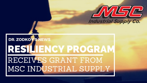 Dr. Zodkoy's Resiliency Program receives grant from MSC Industrial Supply Co.