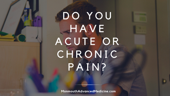 Do you have acute or chronic pain?